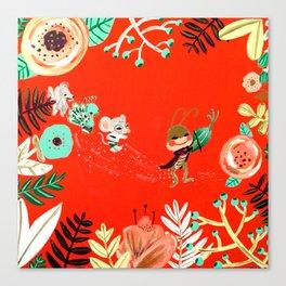 Caminito de la Escuela Canvas Print