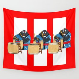 Taiko Penguins Wall Tapestry