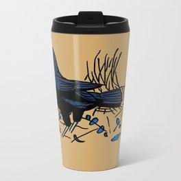 Satin Bower Bird Metal Travel Mug