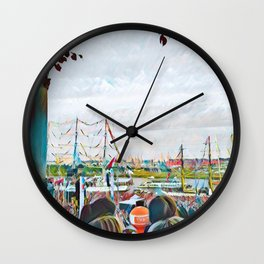 My view of the boat race Wall Clock