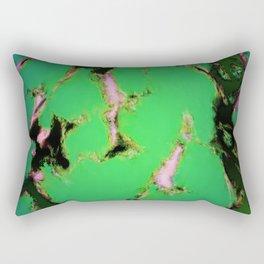 Soft green shatter Rectangular Pillow