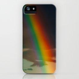 Double Rainbow After Heavy Rain, LGBT Rainbow, Freedom Colors, Wall Art Print, Large Print Art iPhone Case