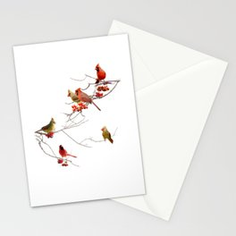 Perching Cardinals Stationery Cards