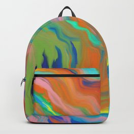 AGATE INTERPRETED:  HOT WAVES SUMMER BREEZE OIL PAINTING Backpack