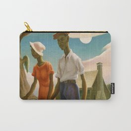 1930 Classical Masterpiece 'Romance' by Thomas Hart Benton Carry-All Pouch
