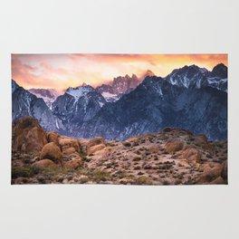 Mount Whitney and Alabama Hills Sunset Rug