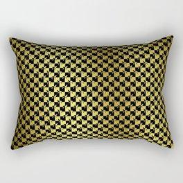 Black and Gold Checkerboard Weimaraner Rectangular Pillow