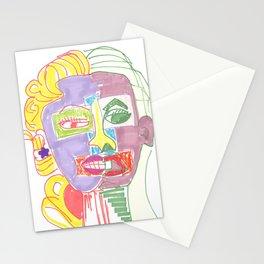 Crazy Face Mo Stationery Cards