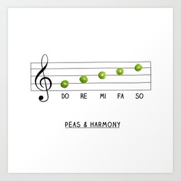 Peas & Harmony Art Print