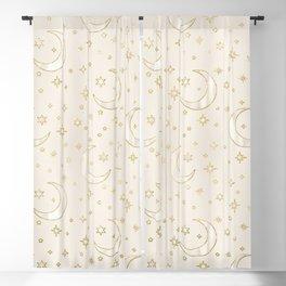 Celestial Pearl Moon & Stars Blackout Curtain