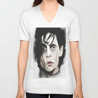 edward scissorhands V-neck T-shirts featuring Edward Scissorhands by Catheriney