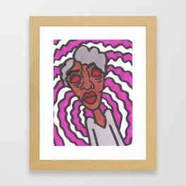 gray hair, don't care Framed Art Print
