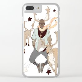 Comet and Deer Clear iPhone Case