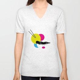 Japanese Line Colors Unisex V-Neck