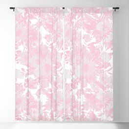 Blush pink watercolor girly floral Blackout Curtain
