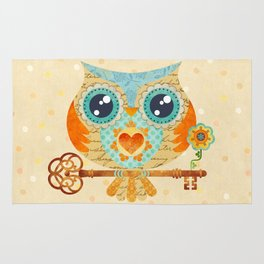 Owl's Summer Love Letters Rug