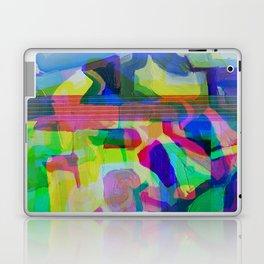Blue Glitchy Howl Laptop & iPad Skin