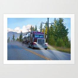 Trans Canada Trucker Art Print