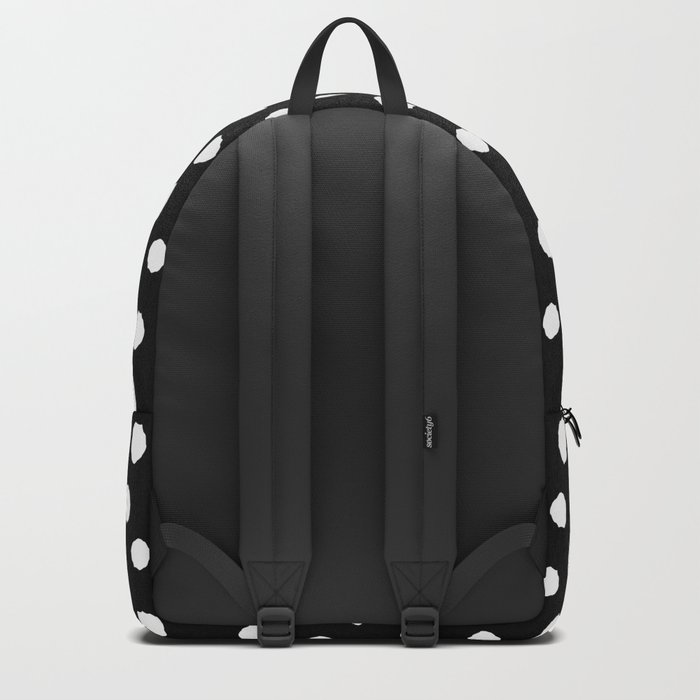 Minimal- white polka dots on black - Mix&Match with Simplicty of life Backpack