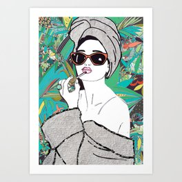 Lip gloss Art Print