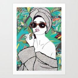 Lip gloss Art Print