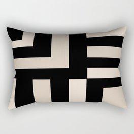 Black and Tan Rectangular Pillow