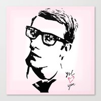ysl Canvas Prints featuring YSL loves you by cvrcak