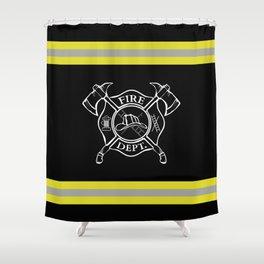 Firefighter - Turnout Gear - Maltese Cross Shower Curtain