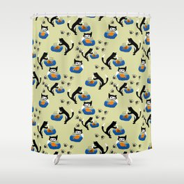 Cat and Fishbowl Shower Curtain