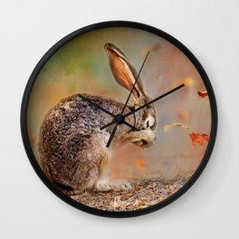 Praying Jackrabbit Wall Clock