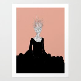 Black Fire Art Print