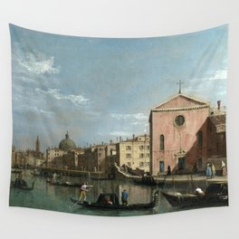 Venice, The Grand Canal facing Santa Croce by Follower of Canaletto Wall Tapestry