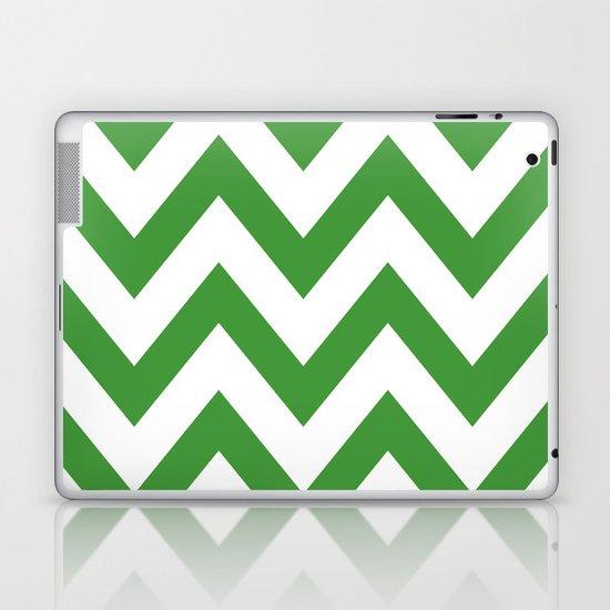 MEAN GREEN CHEVRON Laptop & iPad Skin
