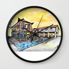 Asian Steampunk Marketplace Wall Clock