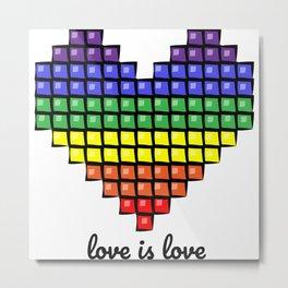 love is love, gay pride Metal Print