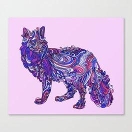 Fox by Night Canvas Print