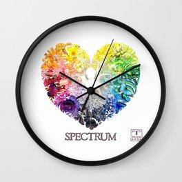 Spectrum Rainbow Heart Wall Clock