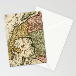 Vintage Map of Mexico (1708) Stationery Cards