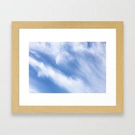 Cirrus Cloud streams Framed Art Print