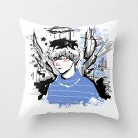 finn Throw Pillows featuring Finn by PennyHappy