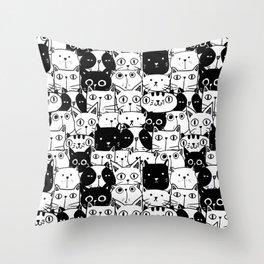 City of Kitties Throw Pillow