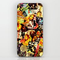 movie posters iPhone & iPod Skins featuring Movie vintage poster by Brigitta