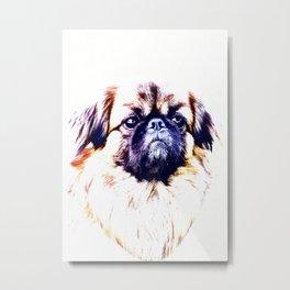 Lion Dog (white background) Metal Print