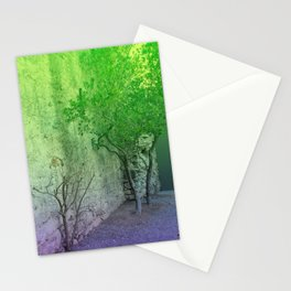 Landscape gradient I little town little tree Stationery Cards