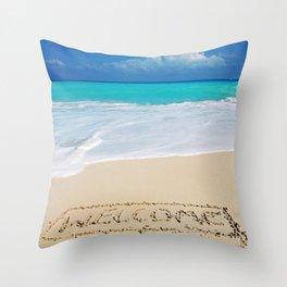 Welcome Home Beach Bum Throw Pillow