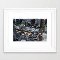 sydney Framed Art Prints featuring Sydney  by Cynthia del Rio
