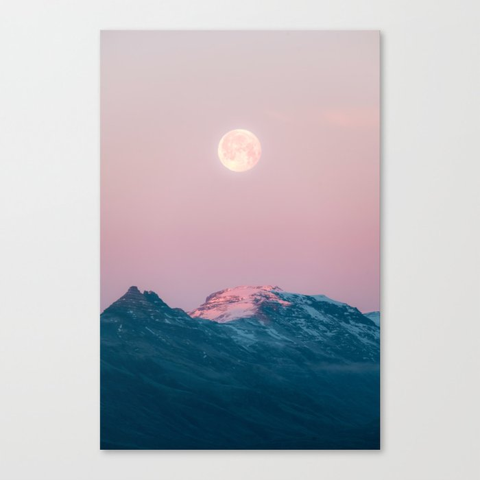 Moon and the Mountains – Landscape Photography Leinwanddruck