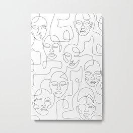 Figured Faces Metal Print