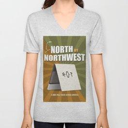 North by Northwest - Alternative Movie Poster Unisex V-Neck