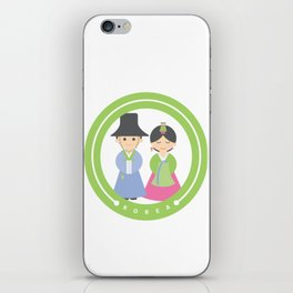 Seoul - Koreans in Traditional Costumes iPhone Skin